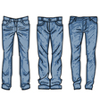 Sketch mens jeans fashion jean vector image vector image