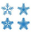 snowflake icons kit vector image