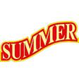 summer banner design eps 10 vector image vector image