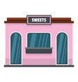 sweet shop icon flat style vector image vector image