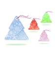 tags christmass tree vector image
