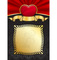 valentines day background with heart and frame vector image