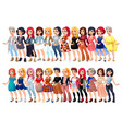 varied female fashion avatar vector image vector image