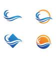 wave beach logo vector image