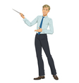 young businessman presenting vector image