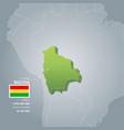 bolivia information map vector image