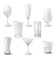 glass icons vector image