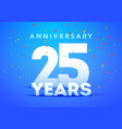 25 years anniversary celebration logo vector image vector image