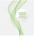 abstract background green waved lines for vector image vector image