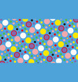 abstract background of multicolored circles vector image vector image