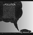 air pollution grunge background template vector image vector image