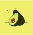 avocado open by half vector image