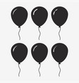 balloon black icon vector image