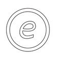 basic font letter e icon design vector image vector image