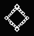 black and white abstract minimal dot badge frame vector image vector image