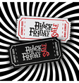 Black Friday Ticket Concept Retro styled Black vector image vector image