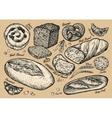 bread bakery hand drawn sketches food vector image vector image