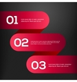 bright 3D red banners set vector image vector image