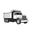 cartoon dump truck tipper truck vector image vector image