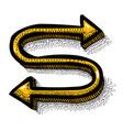cartoon image of location icon route symbol vector image vector image