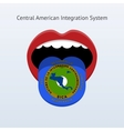 Central American Integration System flag vector image vector image