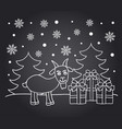 chalkboard new year card with goat vector image vector image