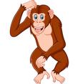 Chimpanze cartoon thinking vector image