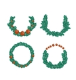 Christmas wreath set vector image vector image