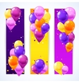 Colorful Balloons Banners Vertical vector image vector image
