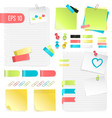 colorful paper notes set vector image vector image