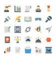 creative process flat icons vector image