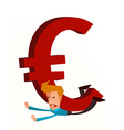 crushed by euro vector image