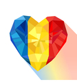 Crystal gem jewelry heart with the flag of the vector image vector image