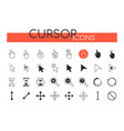 cursor icons - set web elements vector image vector image