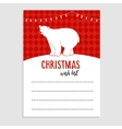 Cute Christmas greeting card wish list Polar vector image vector image