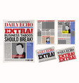 Daily newspaper template tabloid layout