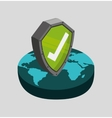 data center security flat icons vector image