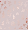 decorative pattern with rose gold imitation vector image vector image