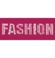 Fashion Keywords Tag Cloud vector image