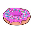 fast food sweet donut concept vector image vector image