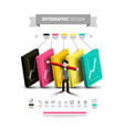 five steps infographic layout with icons and man vector image vector image