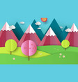 flat design nature landscape with vector image