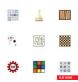 flat icon entertainment set of pawn dice chess vector image vector image