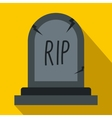 Grave icon flat style vector image vector image
