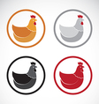 group of hen design vector image vector image