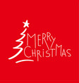 holiday red lettering vector image