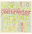 How To Work With Contractors To Create Great vector image vector image