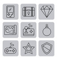 icon video games classic vector image vector image