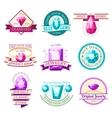 jewel emblems set vector image vector image