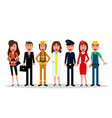 labor day people group characters different vector image